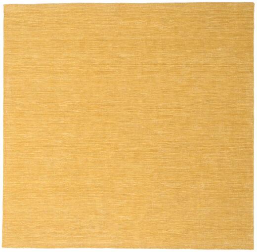 Kilim Loom - Yellow Rug 250X250 Authentic  Modern Handwoven Square Light Brown/Dark Beige Large (Wool, India)