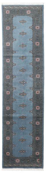 Pakistan Bokhara 2Ply Rug 78X304 Authentic  Oriental Handknotted Hallway Runner  Blue/Dark Blue/Dark Grey (Wool, Pakistan)