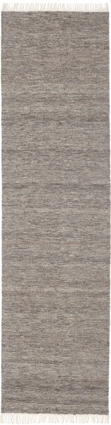 Melange - Brown Rug 80X400 Authentic  Modern Handwoven Hallway Runner  Light Grey/Dark Grey (Wool, India)