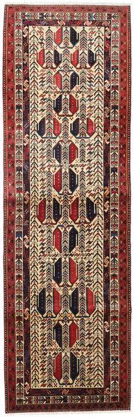Afshar Rug 93X299 Authentic  Oriental Handknotted Hallway Runner  Dark Red/Dark Brown (Wool, Persia/Iran)