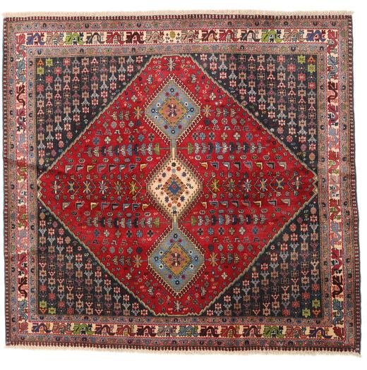 Yalameh Rug 192X200 Authentic  Oriental Handknotted Square Dark Red/Dark Brown (Wool, Persia/Iran)