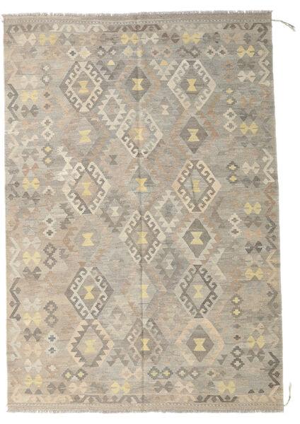 Kilim Afghan Old Style Rug 173X254 Authentic  Oriental Handwoven Light Grey/Beige (Wool, Afghanistan)