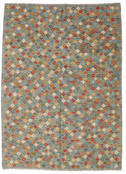 Kilim Afghan Old Style Rug 175X242 Authentic  Oriental Handwoven Dark Grey/Light Grey (Wool, Afghanistan)