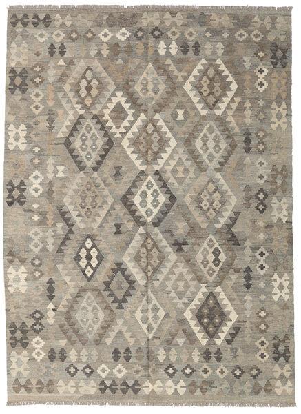 Kilim Afghan Old Style Rug 180X241 Authentic  Oriental Handwoven Light Grey/Dark Grey (Wool, Afghanistan)