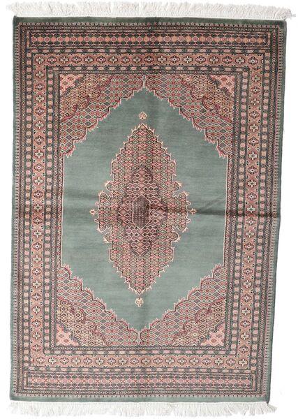 Pakistan Bokhara 3Ply Rug 143X208 Authentic  Oriental Handknotted Dark Grey/White/Creme (Wool, Pakistan)