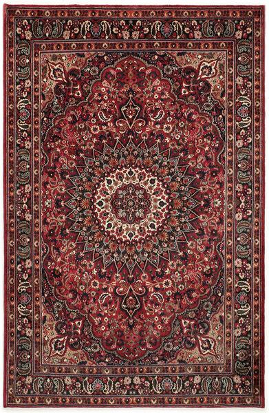 Moud Rug 195X295 Authentic  Oriental Handknotted Dark Red/Dark Brown (Wool/Silk, Persia/Iran)