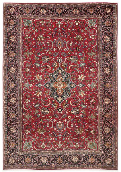 Sarouk Rug 210X305 Authentic  Oriental Handknotted Dark Red/Dark Brown (Wool, Persia/Iran)