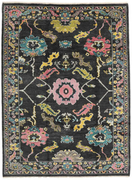 Ushak Rug 215X287 Authentic  Modern Handknotted Dark Grey (Wool, Pakistan)