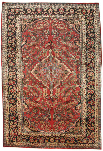 Mahal Rug 238X335 Authentic  Oriental Handknotted Dark Brown/Dark Red (Wool, Persia/Iran)