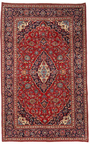 Keshan Rug 210X340 Authentic  Oriental Handknotted Dark Red/Black (Wool, Persia/Iran)