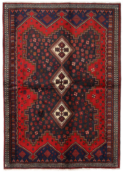 Afshar Rug 163X230 Authentic  Oriental Handknotted Dark Red/Dark Brown (Wool, Persia/Iran)