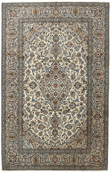 Keshan Rug 194X303 Authentic  Oriental Handknotted Dark Grey/Light Grey (Wool, Persia/Iran)