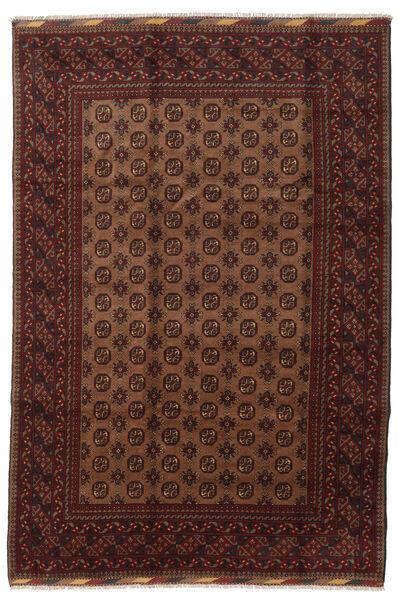 Afghan Rug 201X294 Authentic  Oriental Handknotted Dark Red/Brown (Wool, Afghanistan)