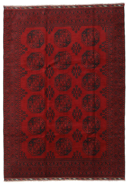 Afghan Rug 206X288 Authentic  Oriental Handknotted Dark Red/Crimson Red (Wool, Afghanistan)