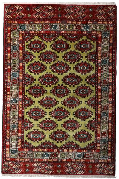 Turkaman Rug 132X198 Authentic  Oriental Handknotted Dark Red/Dark Grey (Wool, Persia/Iran)