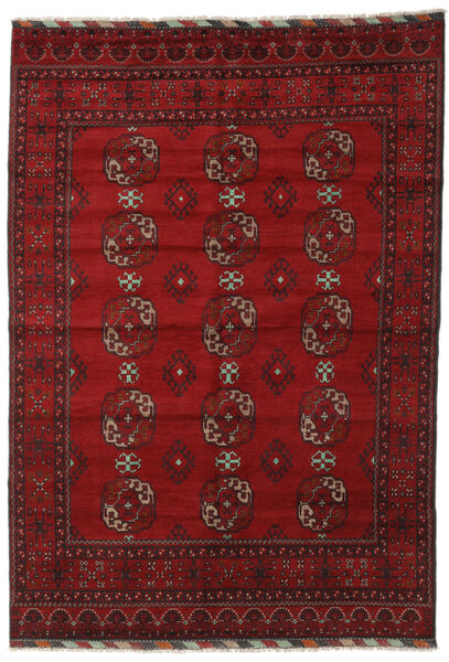 Afghan Rug 202X289 Authentic  Oriental Handknotted Dark Red/Crimson Red (Wool, Afghanistan)