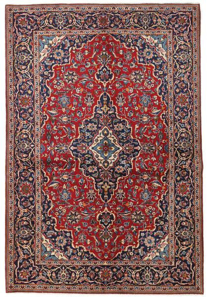 Keshan Rug 149X223 Authentic  Oriental Handknotted Dark Red/Dark Purple (Wool, Persia/Iran)
