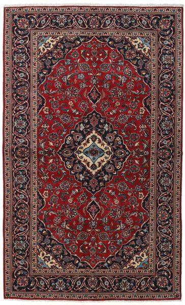 Keshan Rug 147X242 Authentic  Oriental Handknotted Dark Red/Black (Wool, Persia/Iran)
