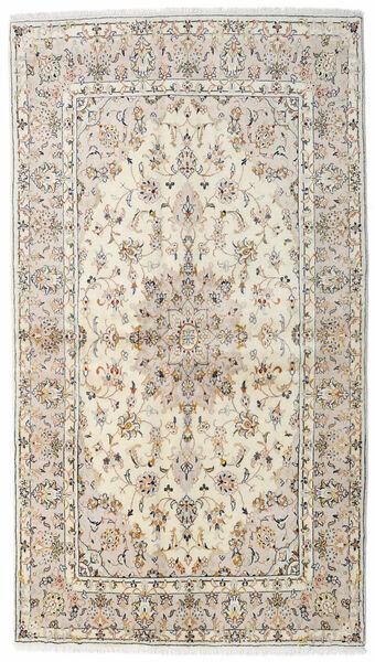 Keshan Rug 136X242 Authentic  Oriental Handknotted Light Grey/Beige (Wool, Persia/Iran)