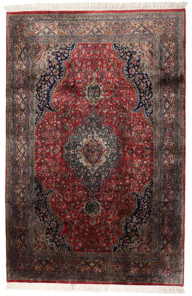 Keshan Indo Rug 184X278 Authentic  Oriental Handknotted Dark Brown/Dark Red (Wool, India)