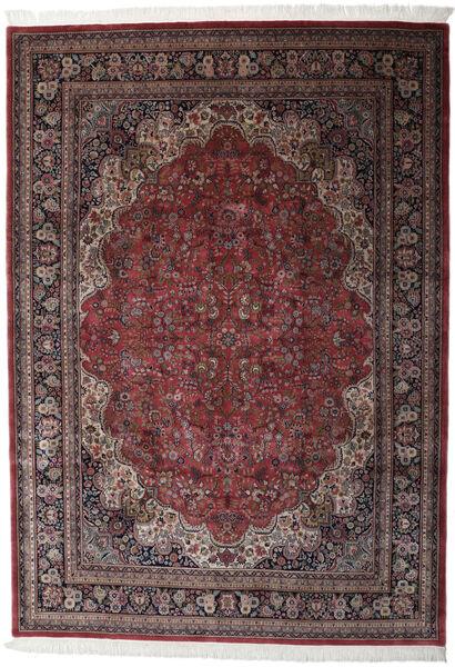 Keshan Indo Rug 256X361 Authentic  Oriental Handknotted Dark Brown/Black Large (Wool, India)