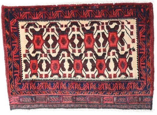 Afshar/Sirjan Rug 55X90 Authentic  Oriental Handknotted Dark Purple/Dark Red (Wool, Persia/Iran)