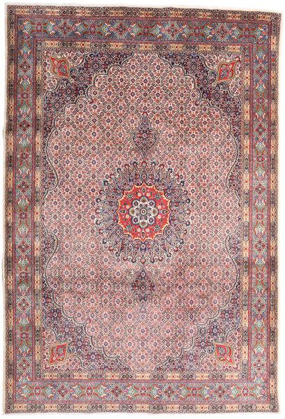 Moud Rug 210X310 Authentic  Oriental Handknotted Light Grey/Light Purple (Wool/Silk, Persia/Iran)