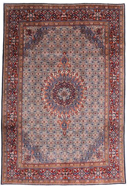 Moud Rug 200X295 Authentic  Oriental Handknotted Dark Red/Dark Purple (Wool/Silk, Persia/Iran)