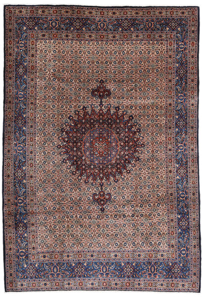Moud Rug 210X303 Authentic  Oriental Handknotted Dark Red/Dark Purple (Wool/Silk, Persia/Iran)