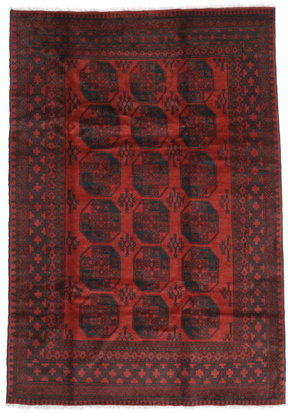 Afghan Rug 196X285 Authentic  Oriental Handknotted Dark Red/Dark Brown (Wool, Afghanistan)