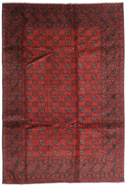 Afghan Rug 196X286 Authentic  Oriental Handknotted Dark Red/Rust Red (Wool, Afghanistan)