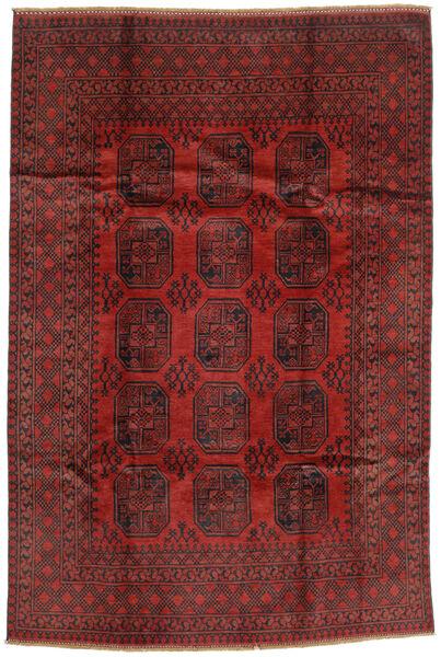 Afghan Rug 193X289 Authentic  Oriental Handknotted Dark Red/Dark Brown (Wool, Afghanistan)