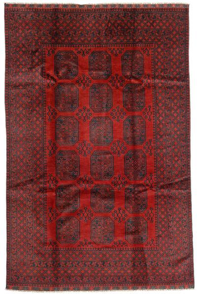 Afghan Rug 192X293 Authentic  Oriental Handknotted Dark Red/Dark Brown (Wool, Afghanistan)