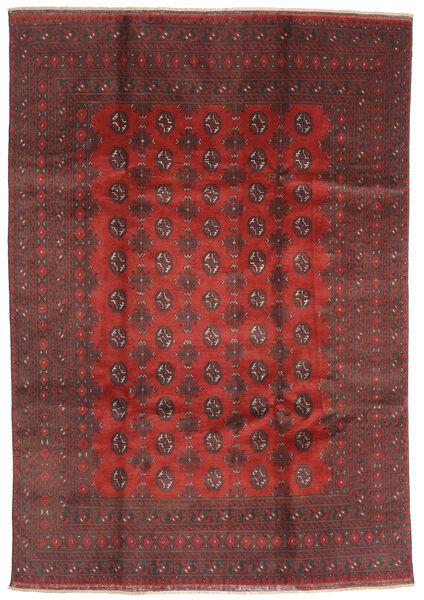 Afghan Rug 200X288 Authentic  Oriental Handknotted Dark Red/Dark Brown (Wool, Afghanistan)