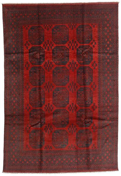 Afghan Rug 196X287 Authentic  Oriental Handknotted Dark Red/Black (Wool, Afghanistan)