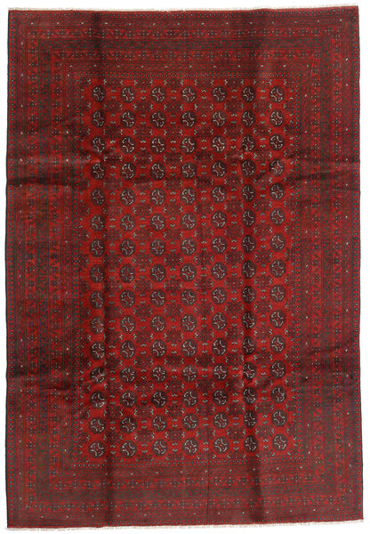 Afghan Rug 199X289 Authentic  Oriental Handknotted Dark Red/Dark Brown (Wool, Afghanistan)