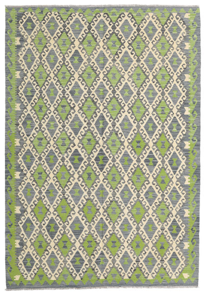 Kilim Afghan Old Style Rug 168X246 Authentic  Oriental Handwoven Light Grey/Light Green (Wool, Afghanistan)