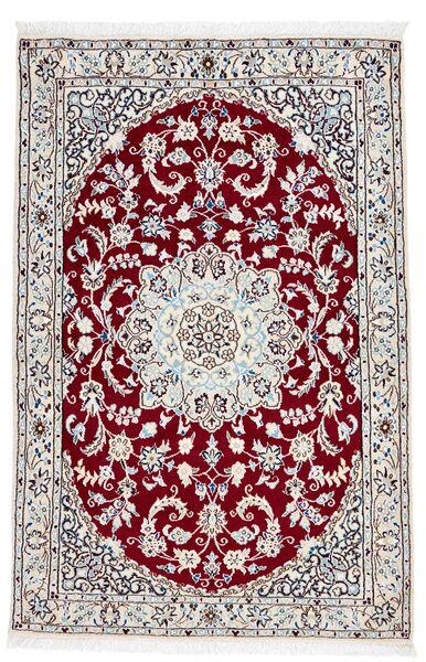 Nain 9La Rug 98X148 Authentic  Oriental Handknotted Dark Brown/Beige (Wool/Silk, Persia/Iran)