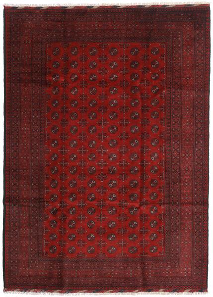 Afghan Rug 205X284 Authentic  Oriental Handknotted Dark Red/Dark Brown (Wool, Afghanistan)