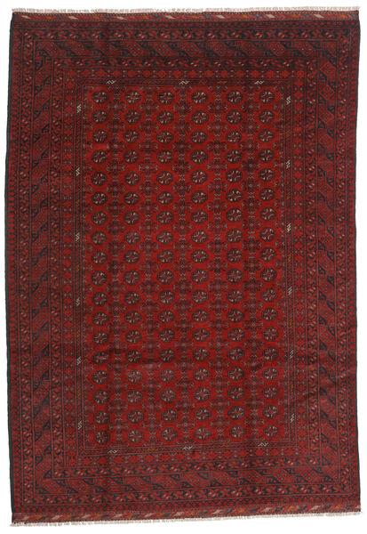 Afghan Rug 206X289 Authentic  Oriental Handknotted Dark Red/Dark Brown (Wool, Afghanistan)