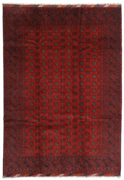 Afghan Rug 204X287 Authentic  Oriental Handknotted Dark Red/Dark Brown (Wool, Afghanistan)