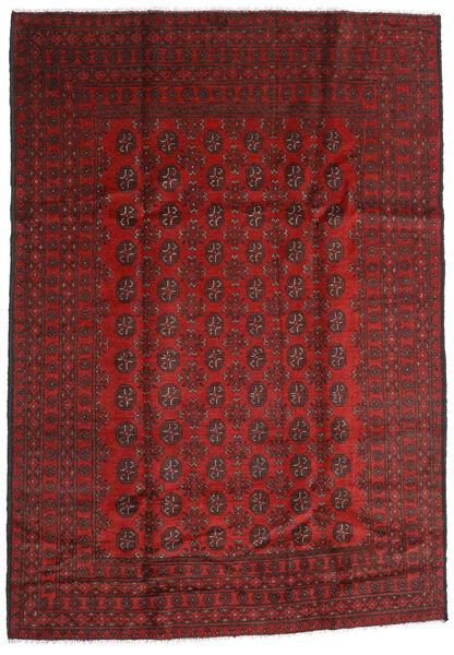 Afghan Rug 198X283 Authentic  Oriental Handknotted Dark Red/Dark Brown (Wool, Afghanistan)