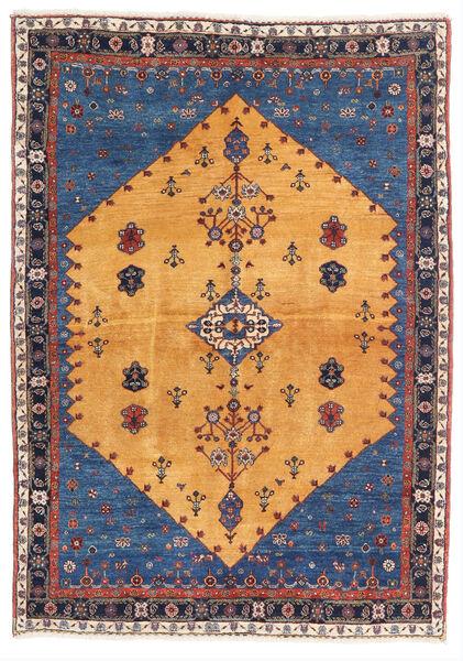 Gabbeh Kashkooli Rug 124X174 Authentic  Modern Handknotted Light Brown/Dark Blue (Wool, Persia/Iran)
