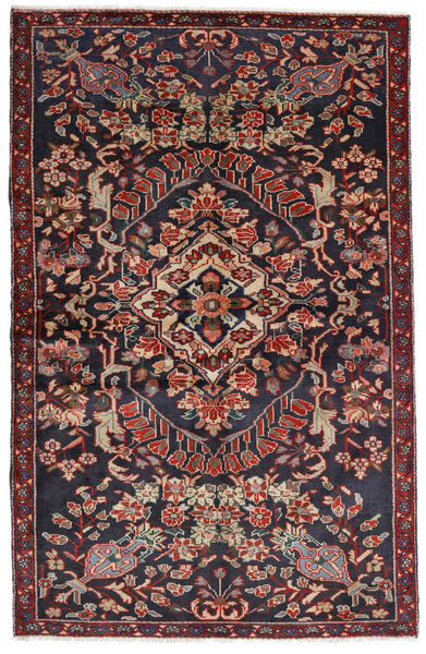 Bakhtiari Rug 133X205 Authentic  Oriental Handknotted Dark Grey/Dark Red (Wool, Persia/Iran)