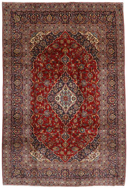 Keshan Rug 210X312 Authentic  Oriental Handknotted Dark Red/Dark Grey (Wool, Persia/Iran)
