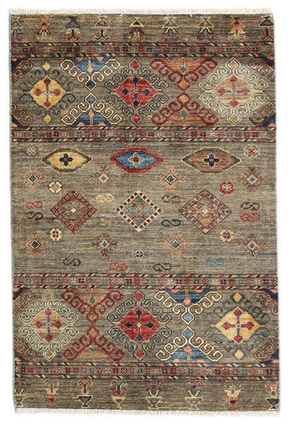 Mirage Rug 84X125 Authentic  Modern Handknotted Light Brown/Light Grey/Dark Grey (Wool, Afghanistan)