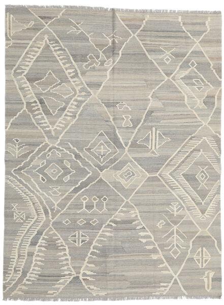 Kilim Modern Rug 180X235 Authentic  Modern Handwoven Light Grey/Dark Beige (Wool, Afghanistan)