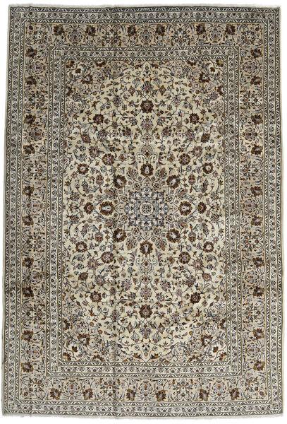 Keshan Rug 246X357 Authentic  Oriental Handknotted Dark Brown/Black (Wool, Persia/Iran)