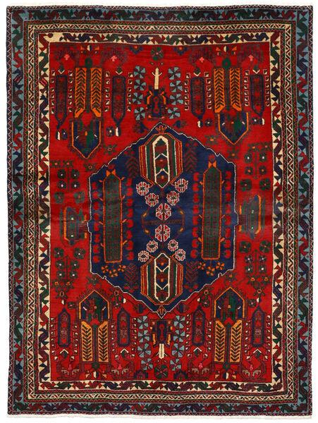 Afshar Rug 162X224 Authentic  Oriental Handknotted Dark Red/Dark Brown (Wool, Persia/Iran)