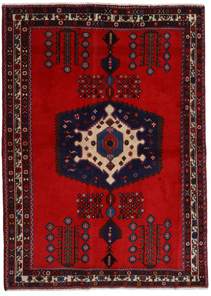 Afshar Rug 171X237 Authentic  Oriental Handknotted Dark Red/Rust Red (Wool, Persia/Iran)
